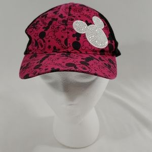 DISNEY PARKS MICKEY MOUSE CAP YOUTH PINK BLACK